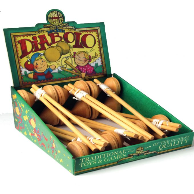 Wooden Diabolo Counter Display (12 pcs)