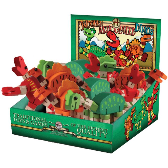Articulated Dinosaurs Counter Display (9 pcs)
